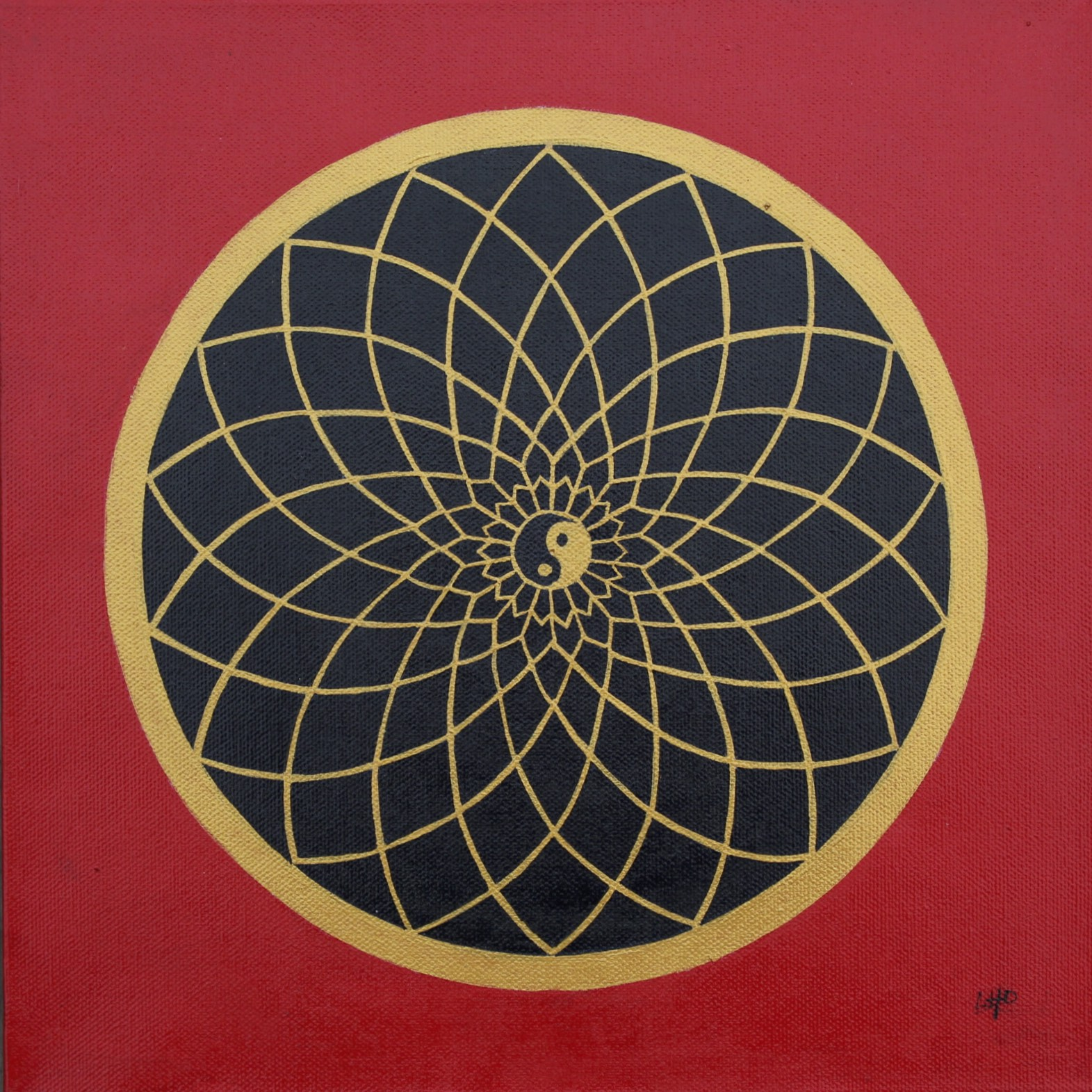 Red & Gold Mandala by Lynn Hanford-Day