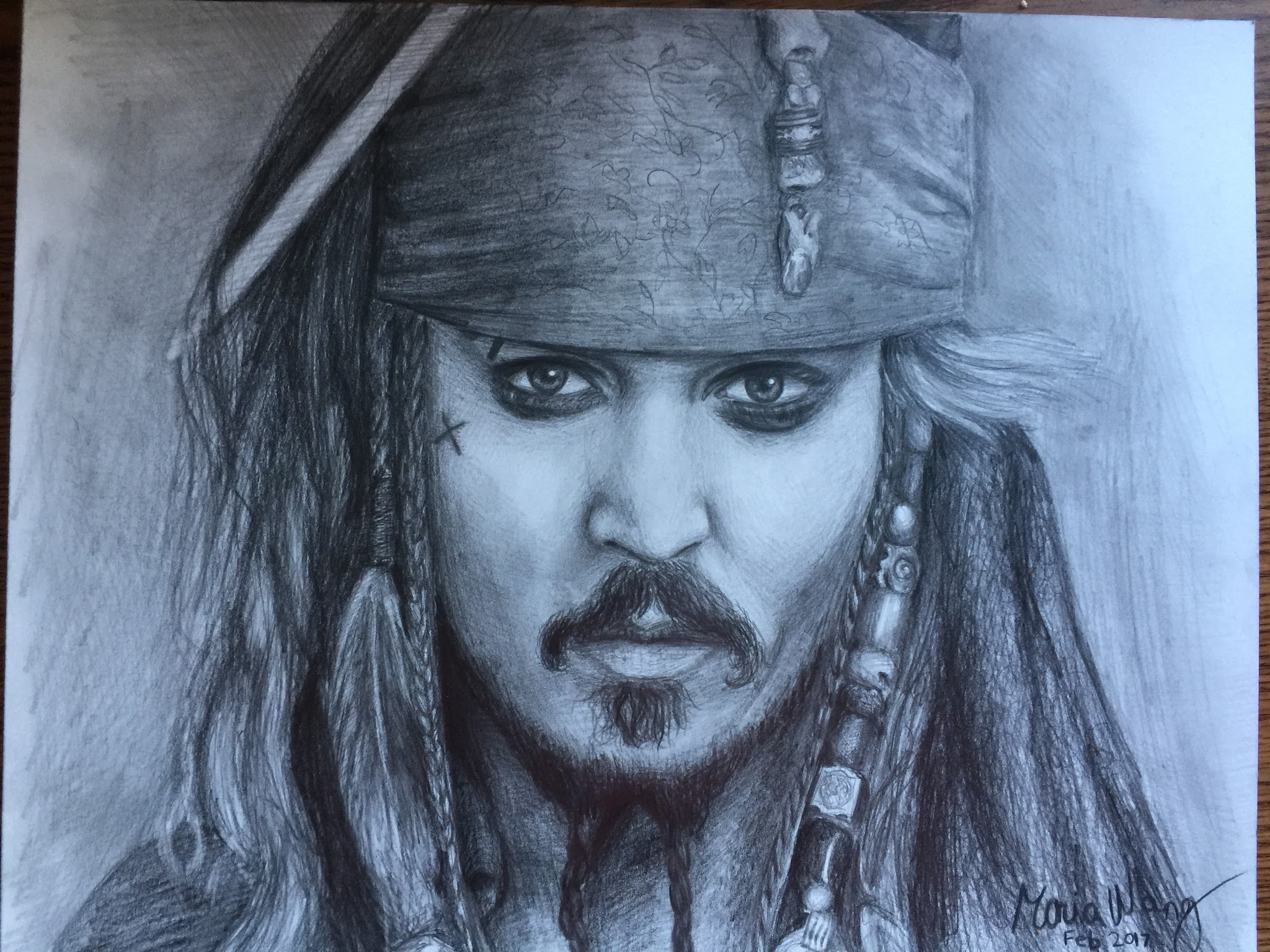 "Jack Sparrow  ""You will always remember this as the day you almost caught Captain Jack Sparrow."" It was a birthday present for one of my Pirates of the Caribbean fanatic friends."
