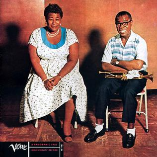 "Ella and Louis  - By: Ella Fitzgerald and Louis Armstrong, 1956This album is a slow, relaxing album, where Louis's deep bass voice and trumpet blends perfectly with Ella's smooth alto. If you like vocal jazz, then this is a great album. It takes a selection of classic songs completely revamped such as ""Cheek to Cheek"" If you only have time to listen to one song, listen to ""Under a Blanket of Blue'."