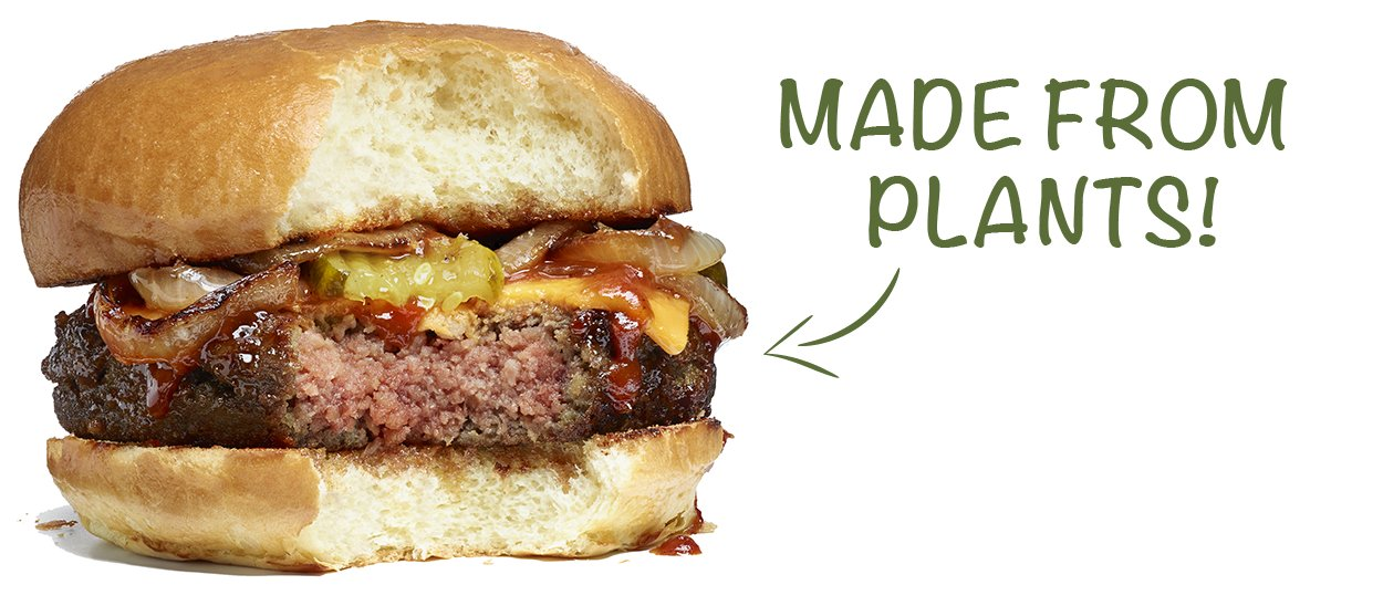 A perfectly engineered vegan beef patty - the Impossible Burger.