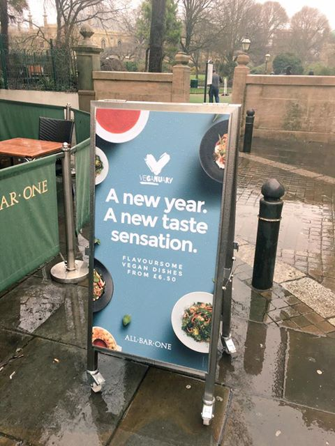 All Bar One have launched a new vegan menu inline with Veganuary.
