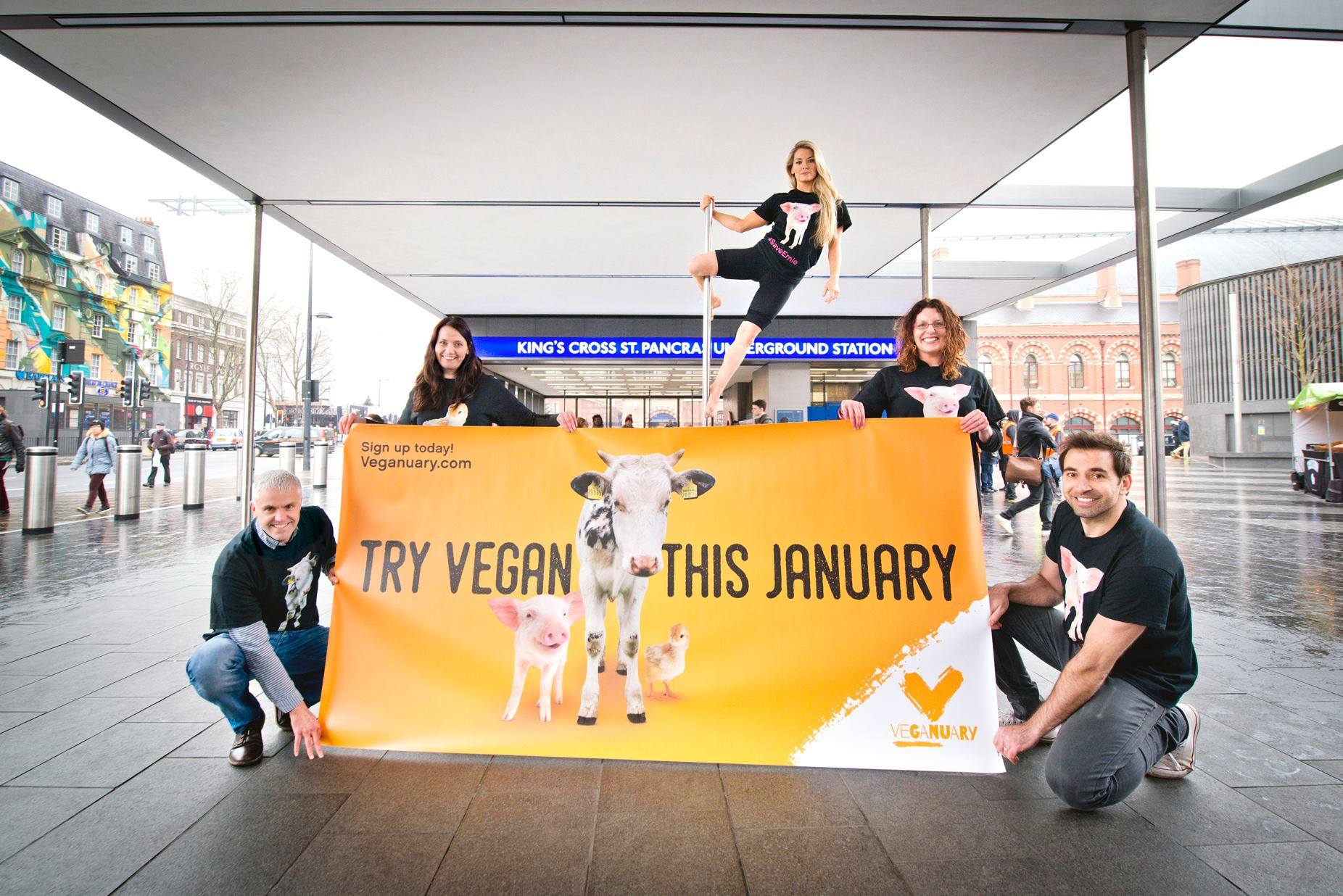 2,500 adverts for Veganuary are circulating through London's public transport system, leading to the biggest audience and signup for the campaign yet.