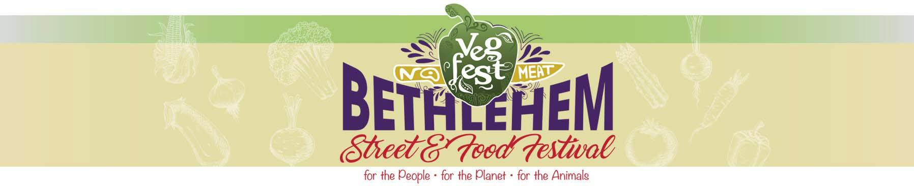 The banner to promote Bethlehem Vegfest