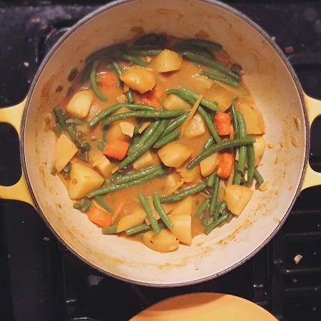 Keralan Vegetable Stew - the Food & Wine version