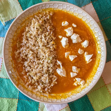 Spicy Sweet Potato and Carrot Soup + fixings!