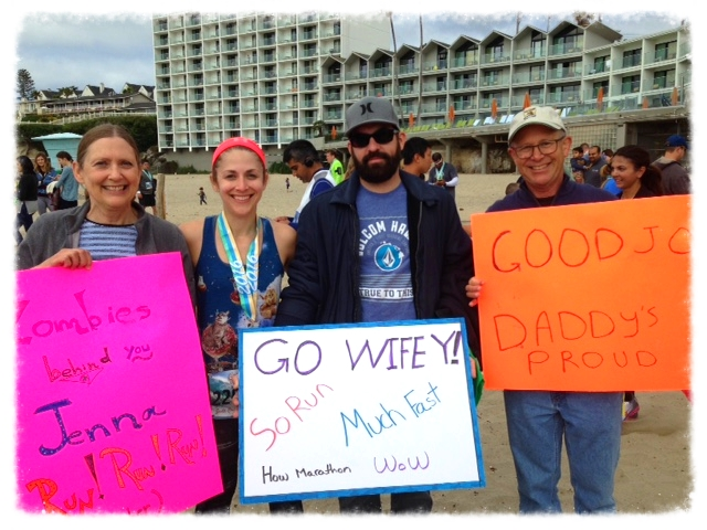 """""""Some were born to run, some were born to make signs."""" - My Husband"""