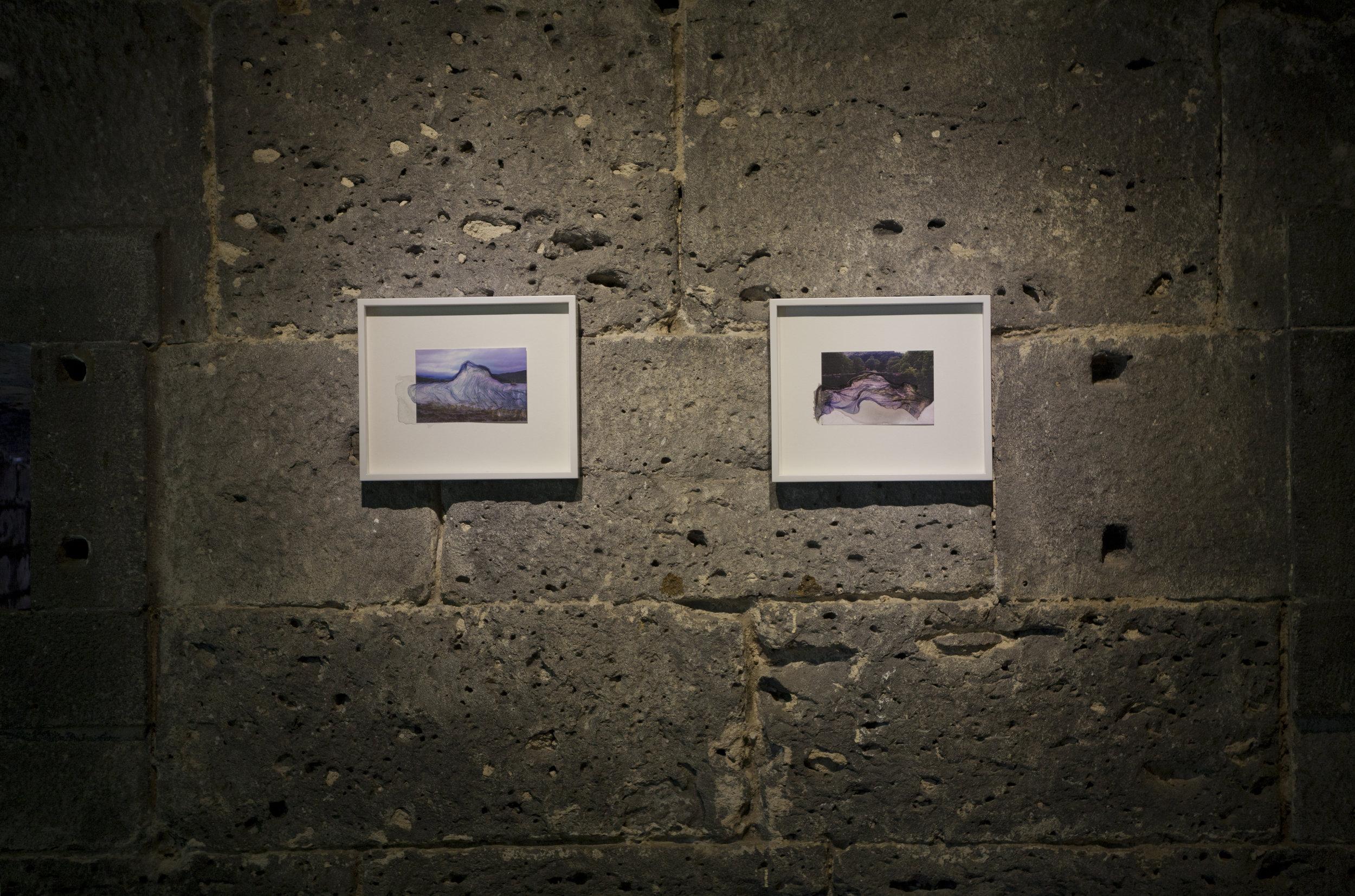 Alexander Duncan,  water drawings ,  Edge Effects,  La Citadelle, Mauritius,2016