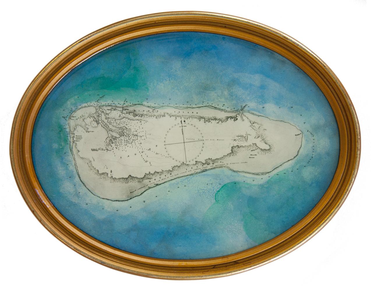 Shiraz Bayjoo    Aldabra No.2     (Ocean Miniatures series)  Acrylic, resin, wood  22.5 x 17 x 2 cm  2016