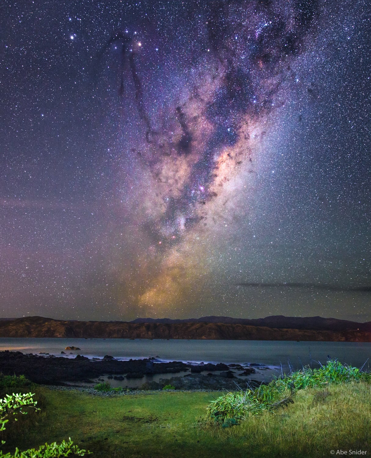 Milky Way over the Rimutaka Range