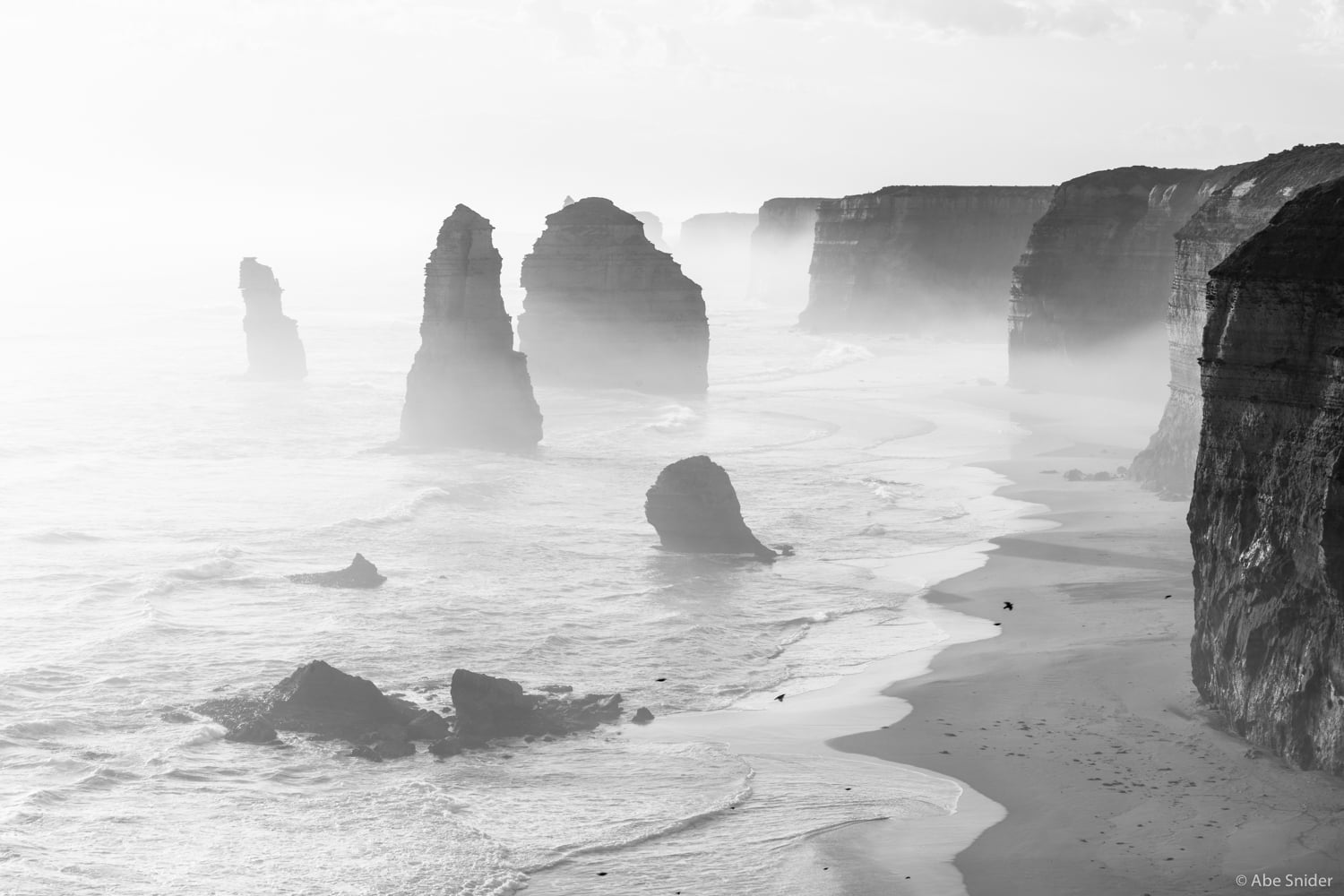 Twelve Apostles (there aren't 12 anymore) at sunset when the mist creates some really dramatic atmospherics.