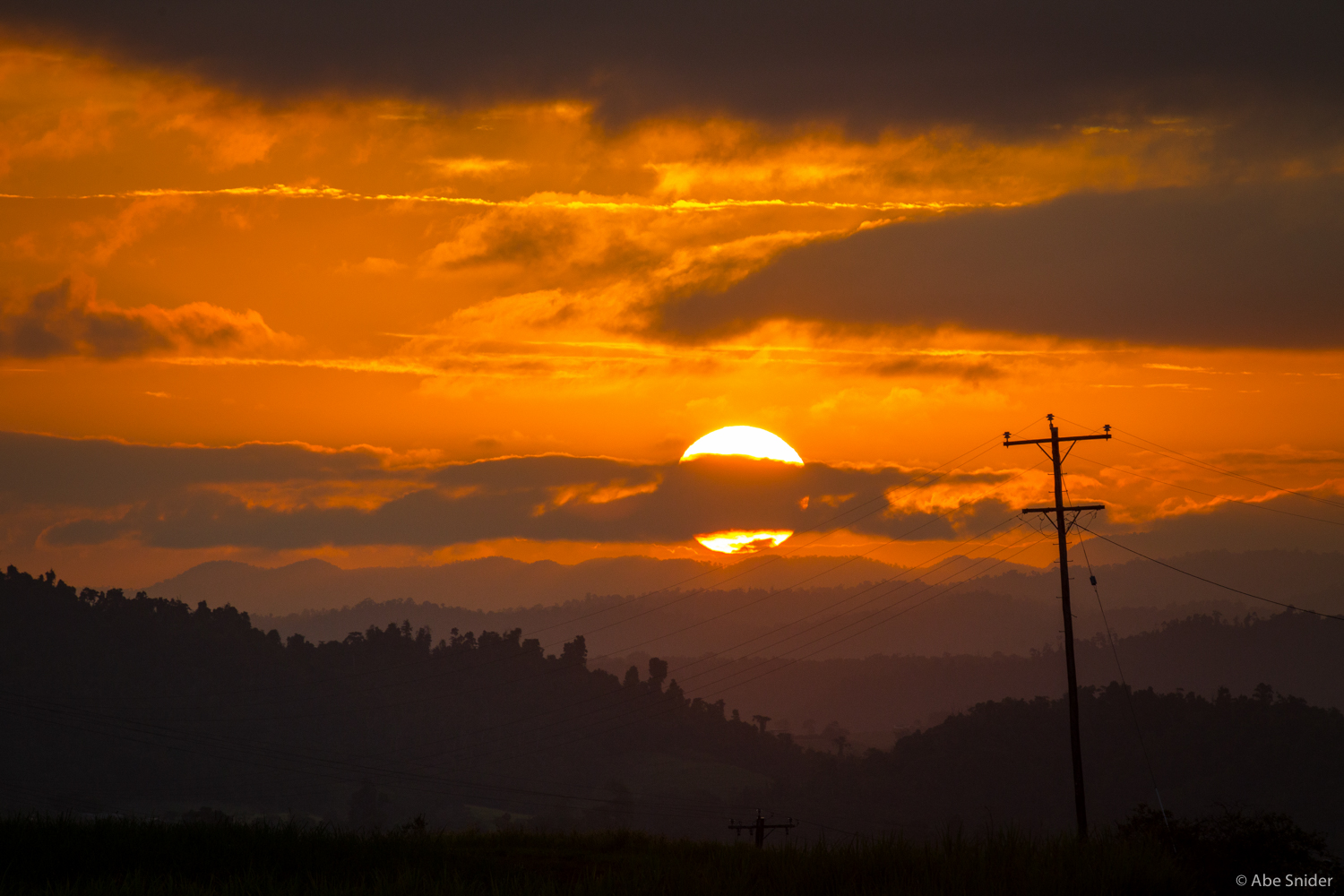 To wrap things up, a sunset on the Atherton Tablelands west of Cairns, Australia.