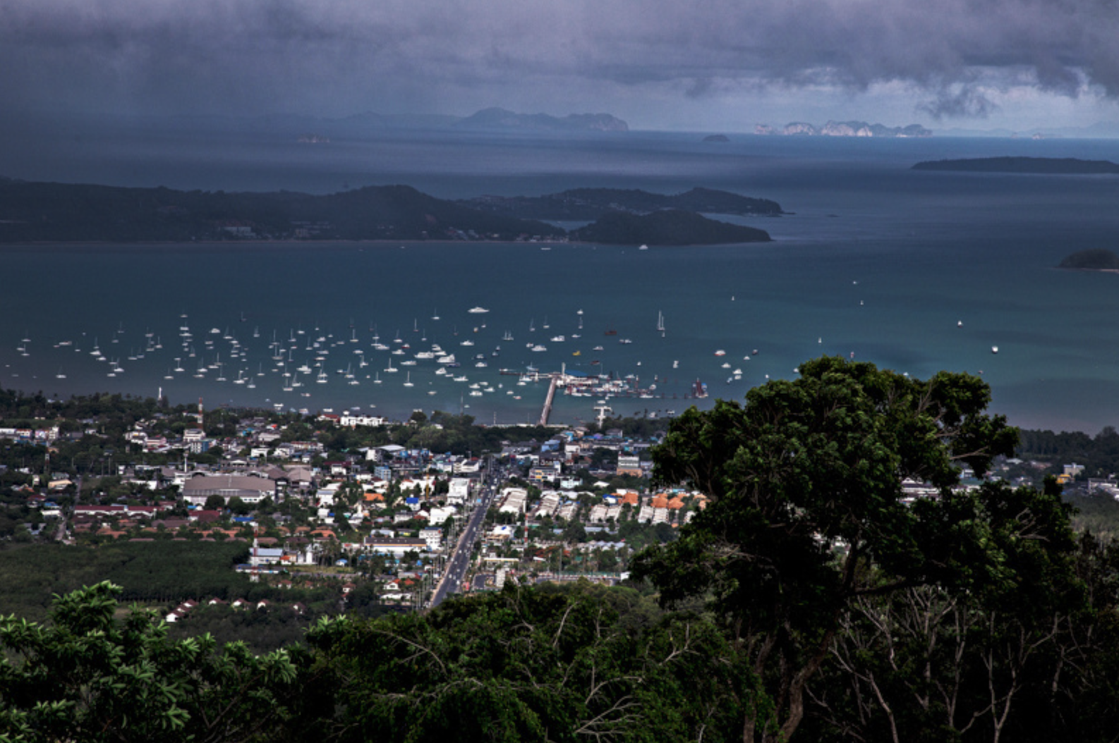 Looking out towards Chalong Pier on the southern part of Phuket.