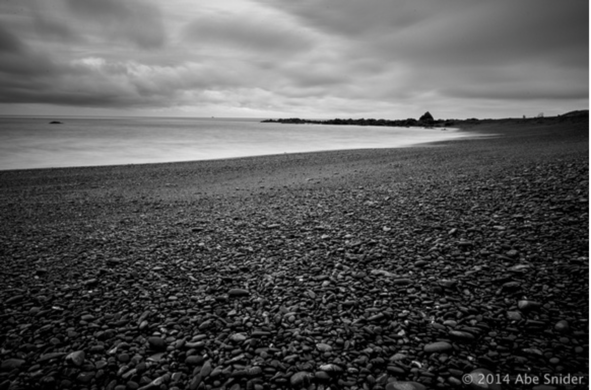 It was howling winds when I took this B&W shot of the beach.