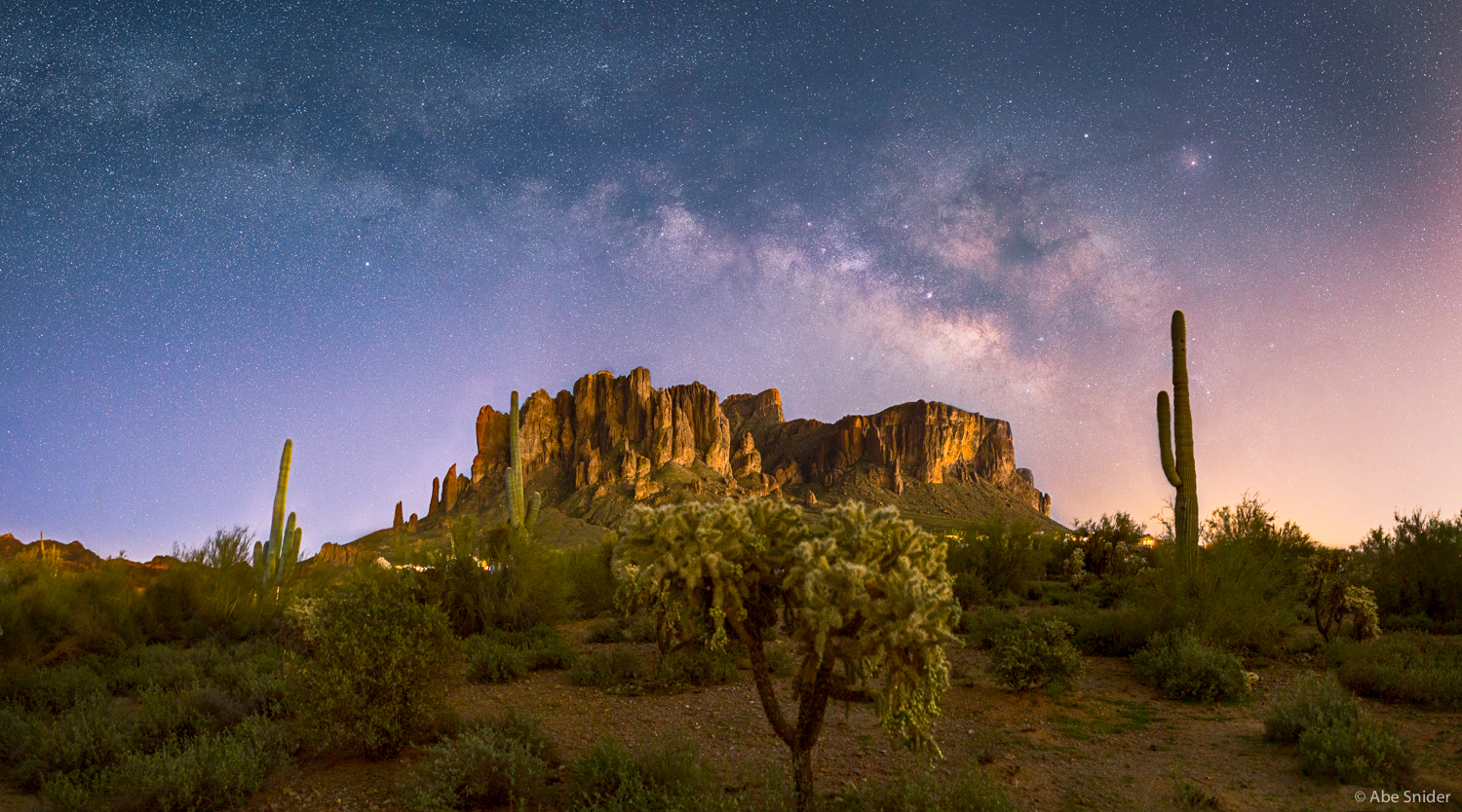 Lost Dutchman State Park and the Cosmos Above