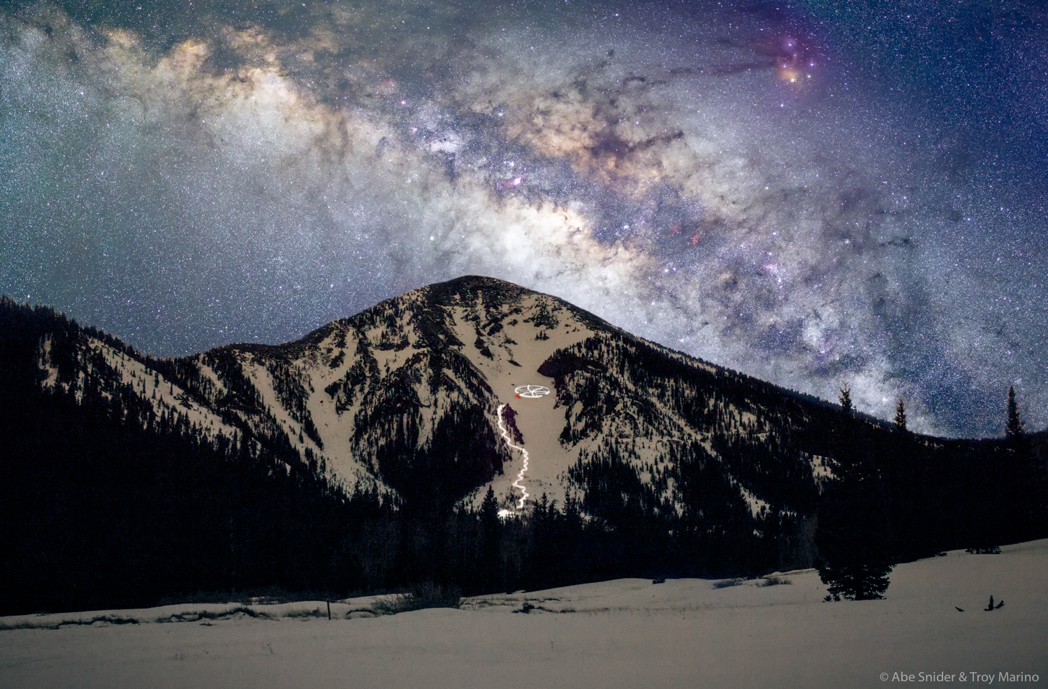 The Milky Way and Fremont Peak of the San Francisco Peaks in Northern Arizona.