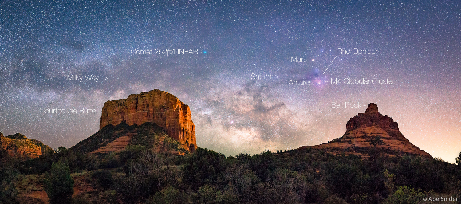 Sedona Red Rocks & Comet 252p/LINEAR