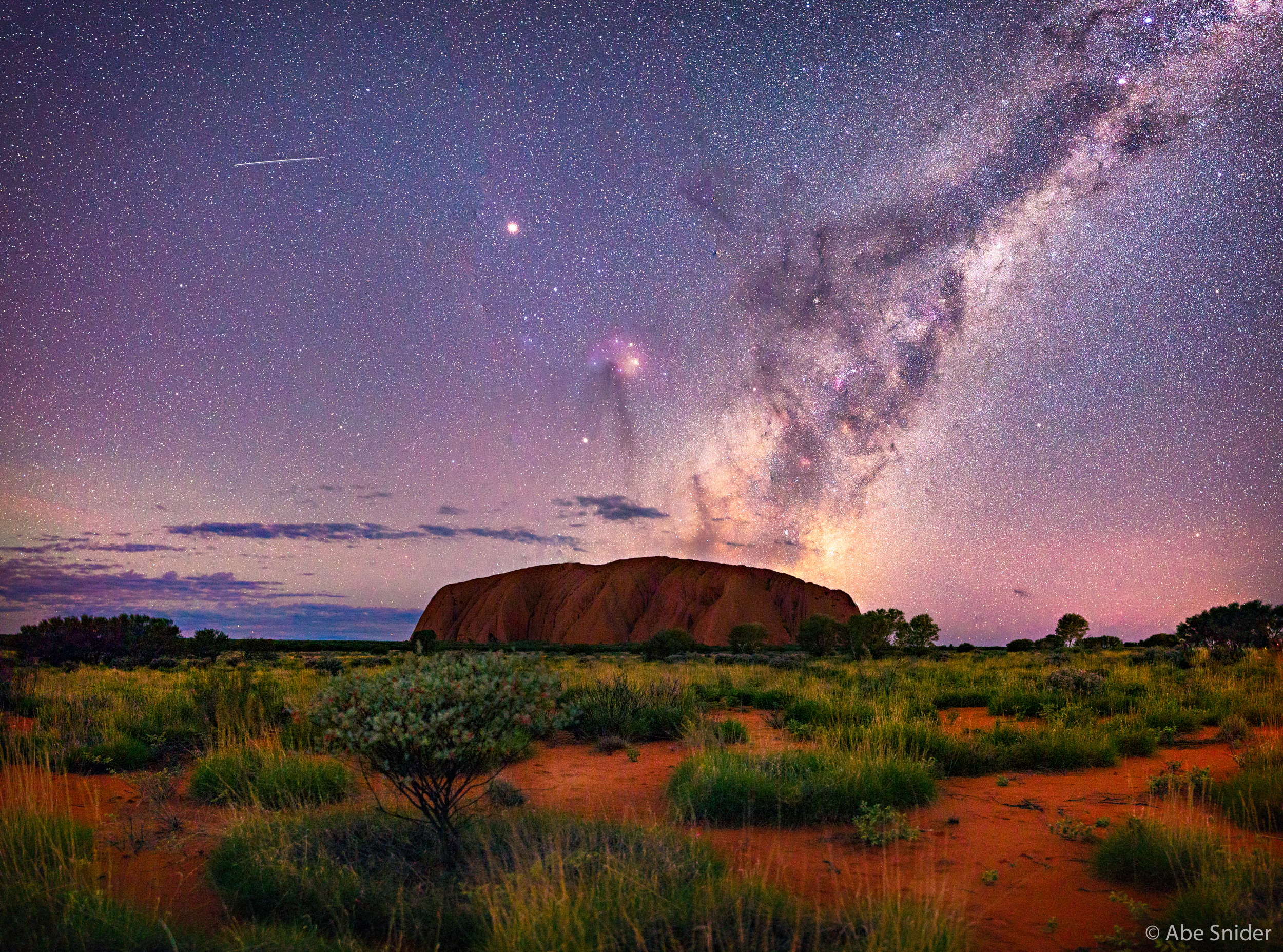 Uluru National Park By Night