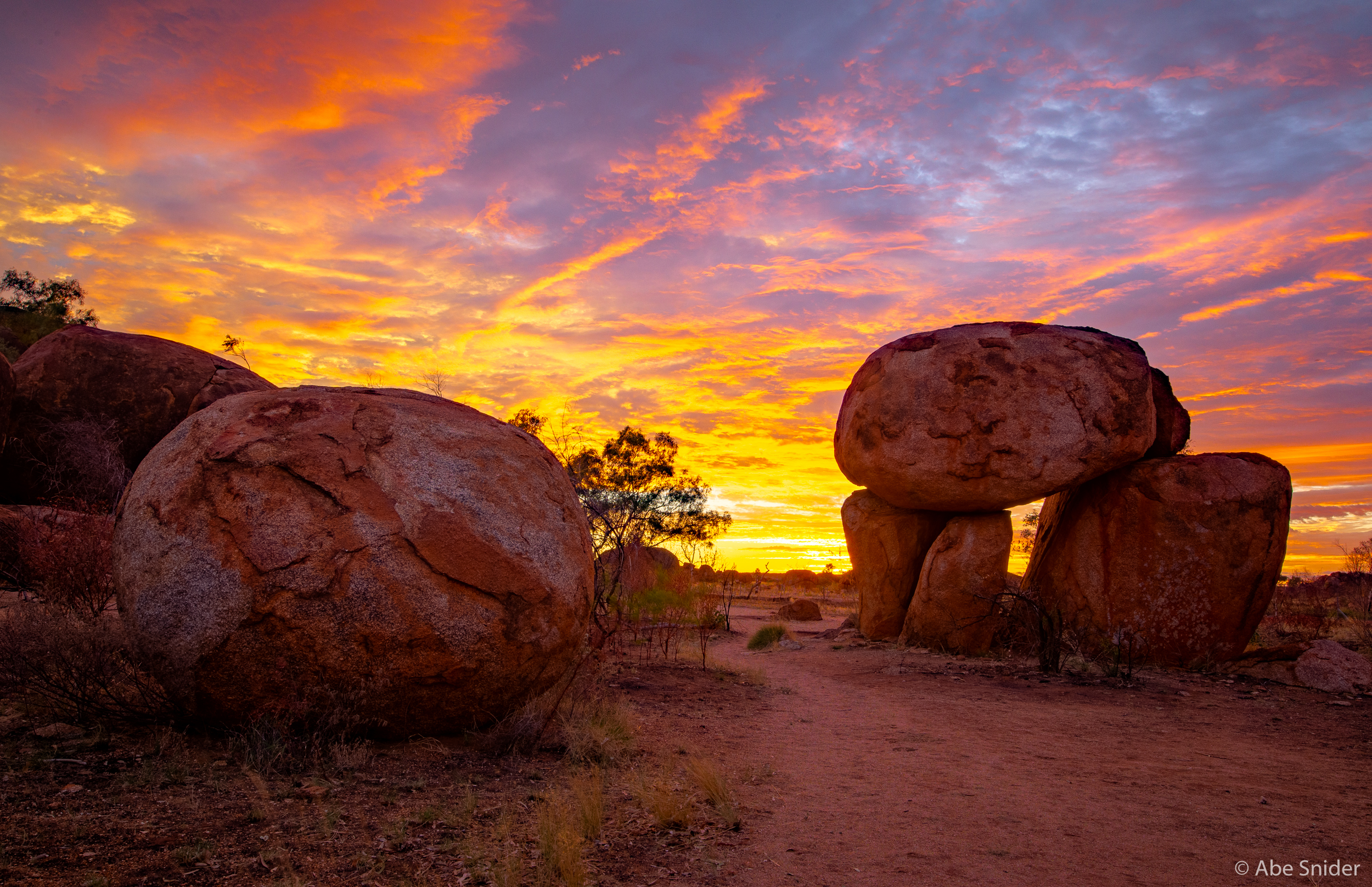 Devils Marbles at sunrise.
