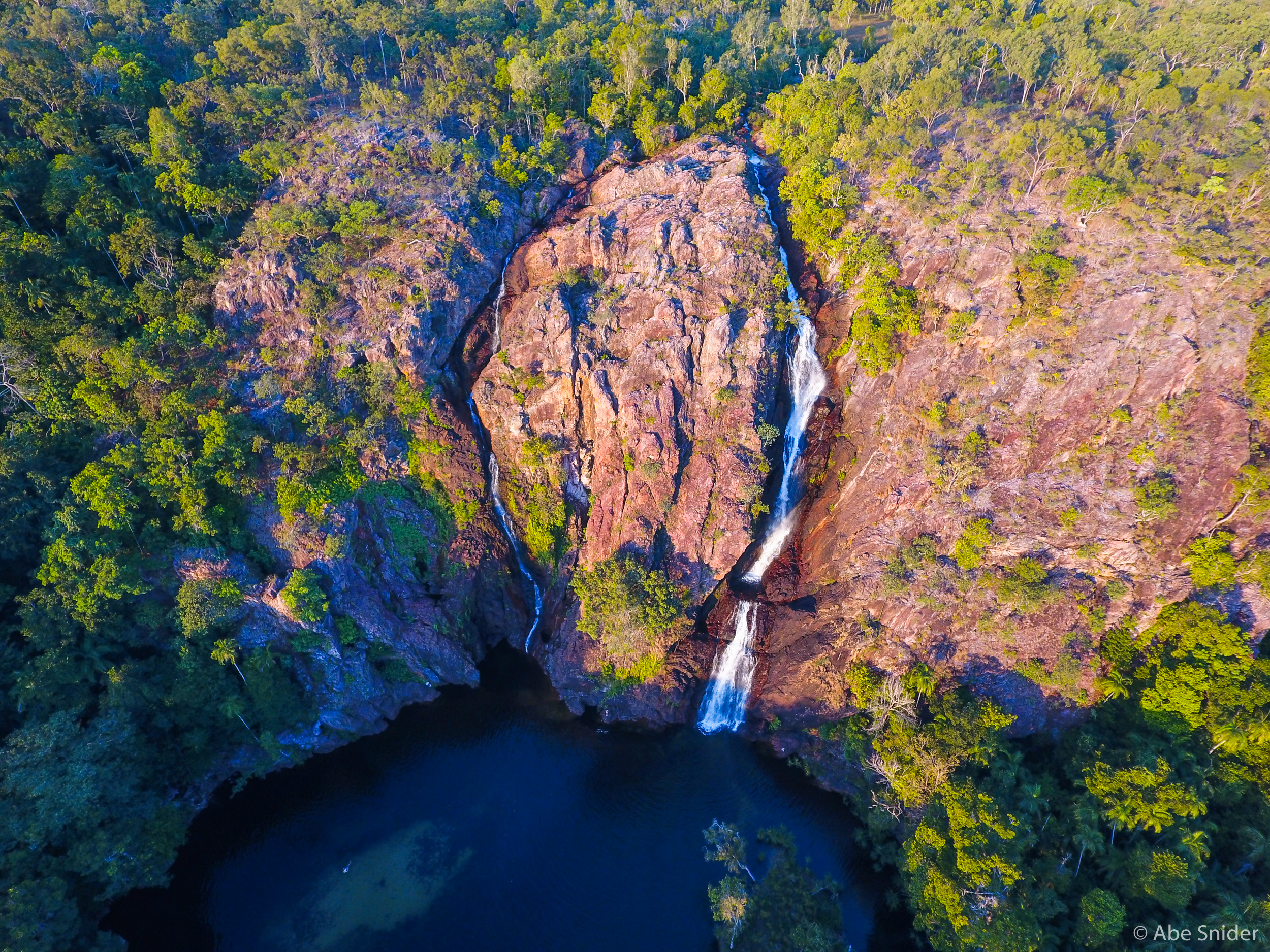 Wangi falls from the air. Captured with my Phantom 4 Drone.