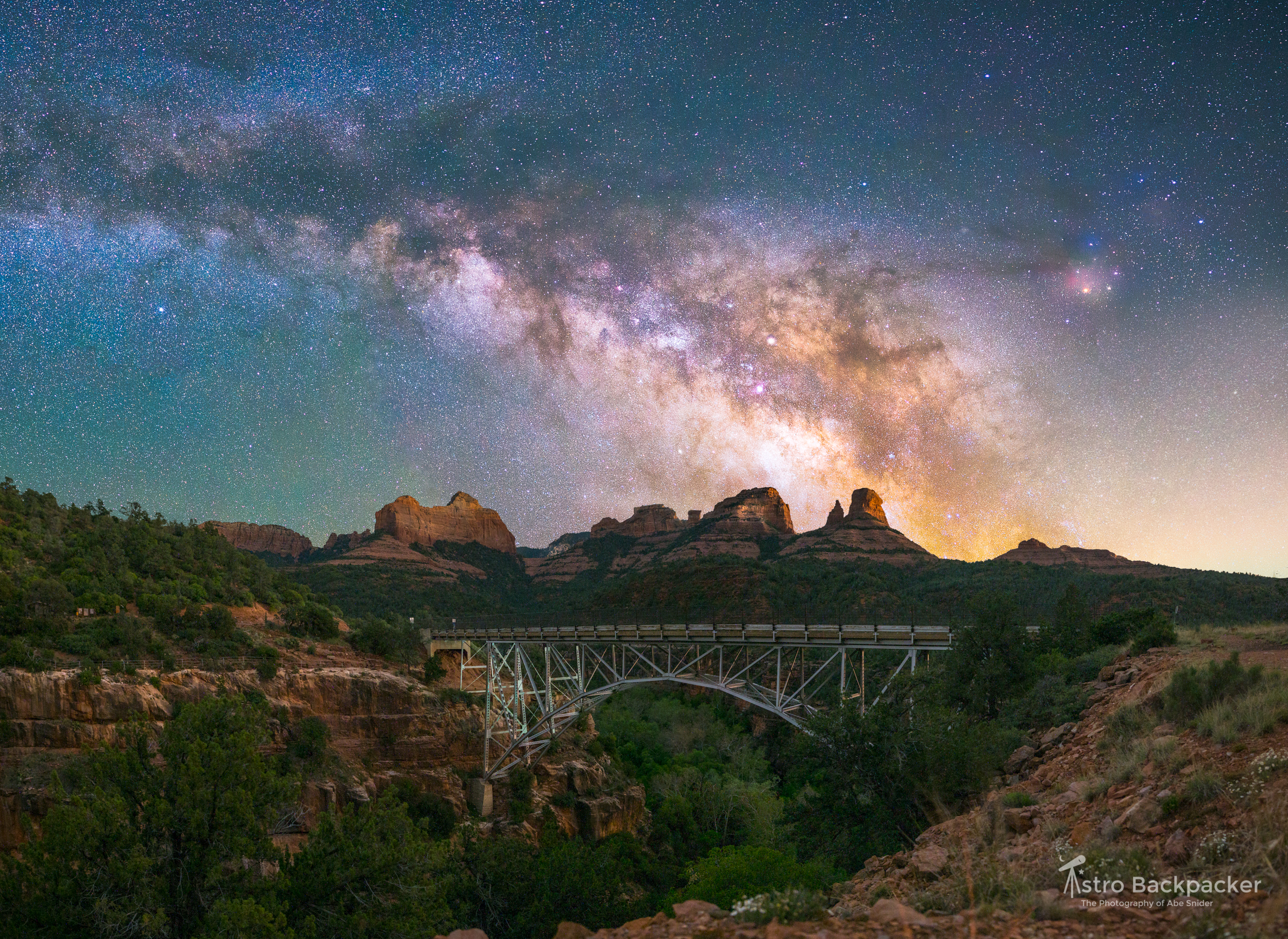 Milky Way & Midgley Bridge (Sedona, Arizona)