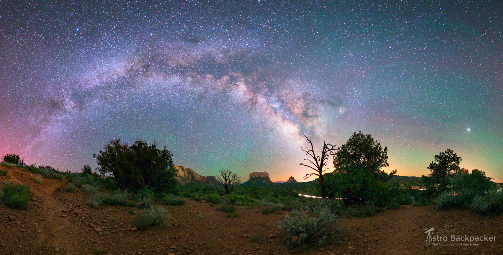 Sedona Red Rocks and the Milky Way