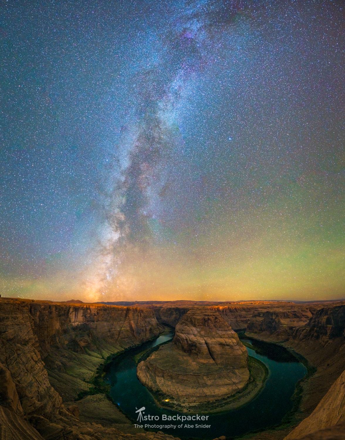 My last Milky Way image for the season at Horseshoe Bend.