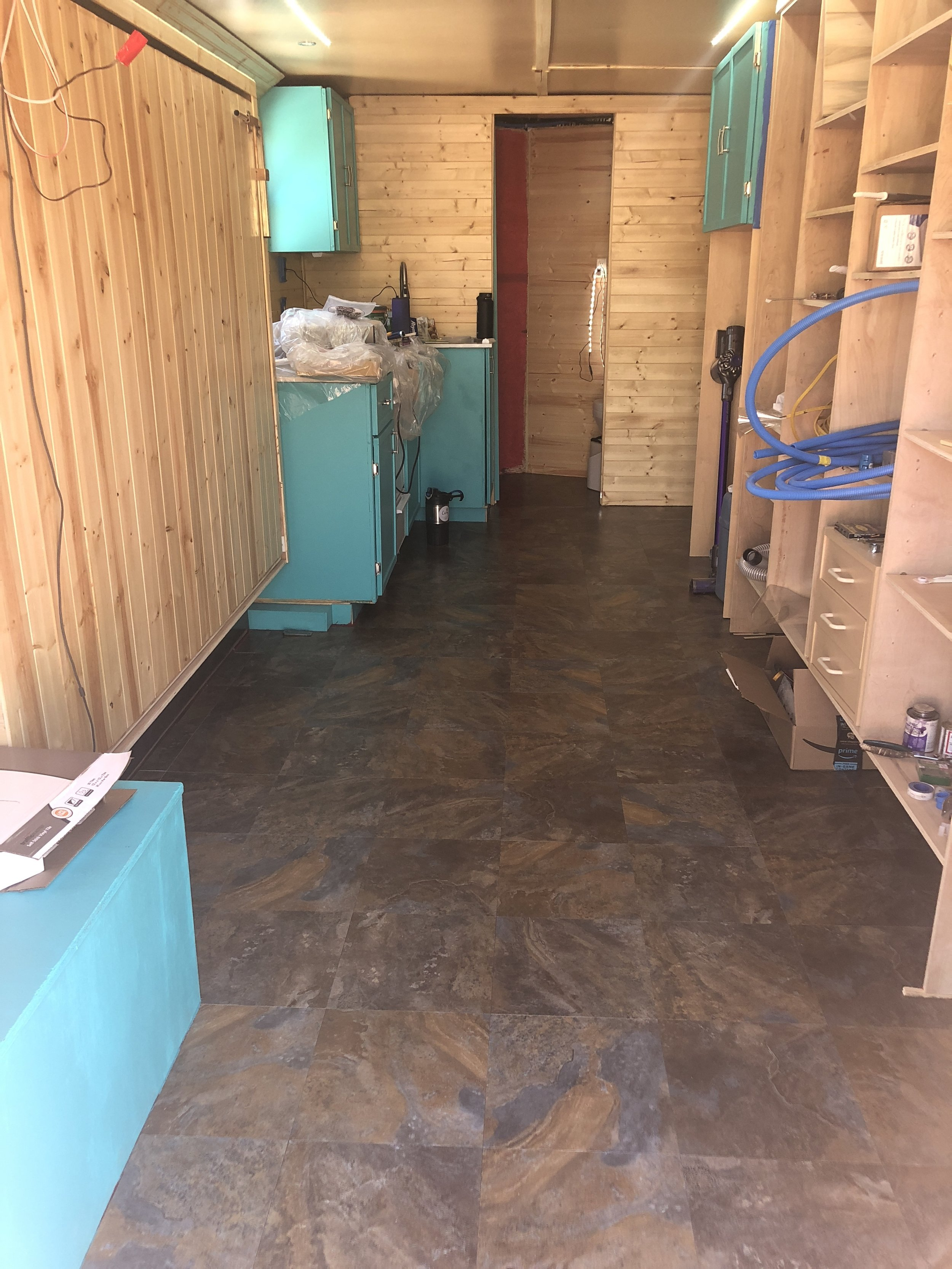 Flooring is done! -