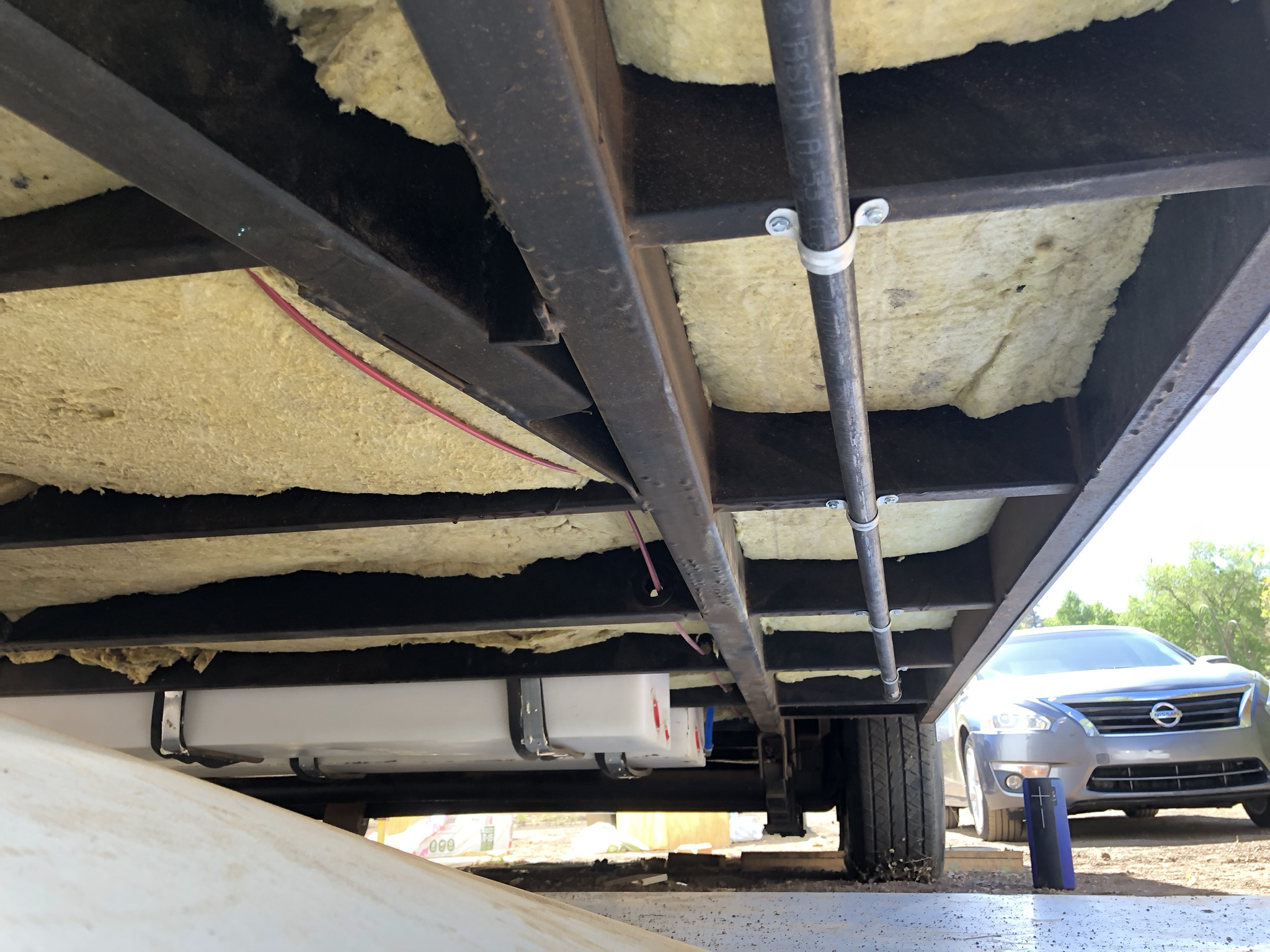 Every inch of the underside needed to be covered. -