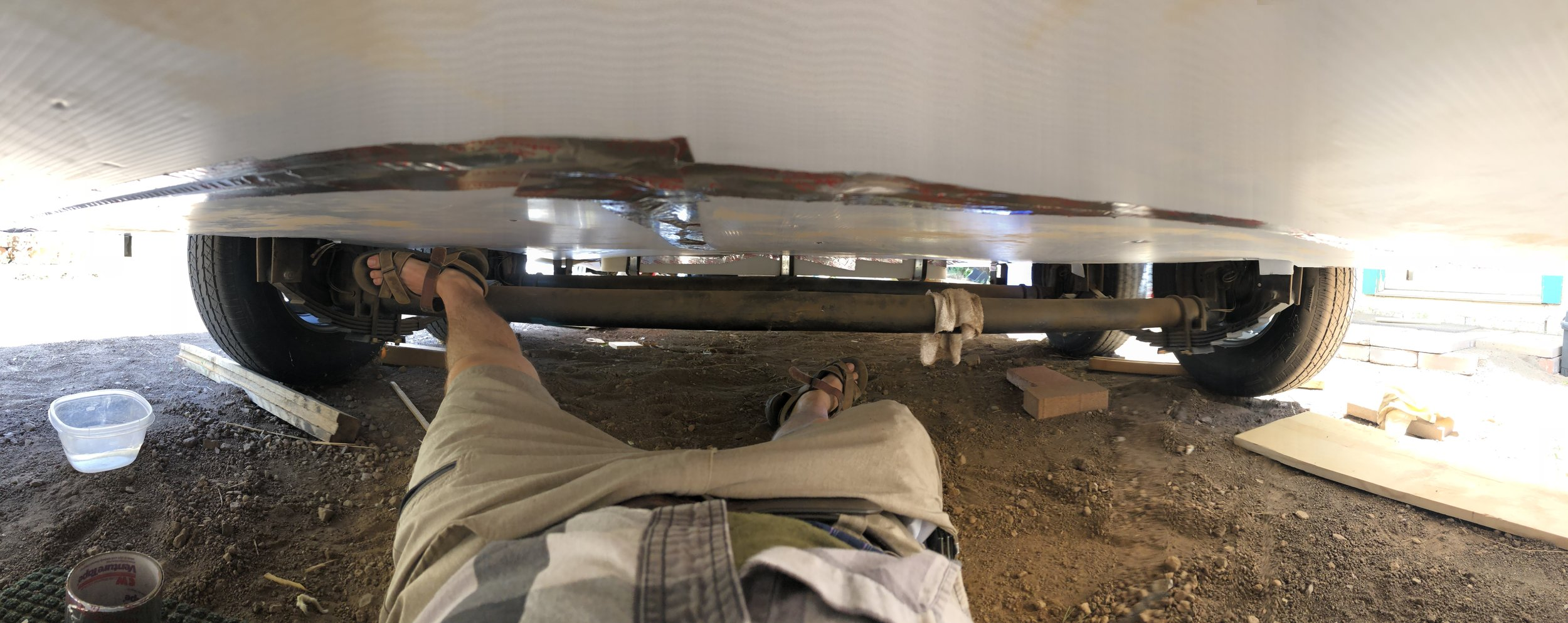 Finished. Our underside is all sealed up from any kind of moisture. -