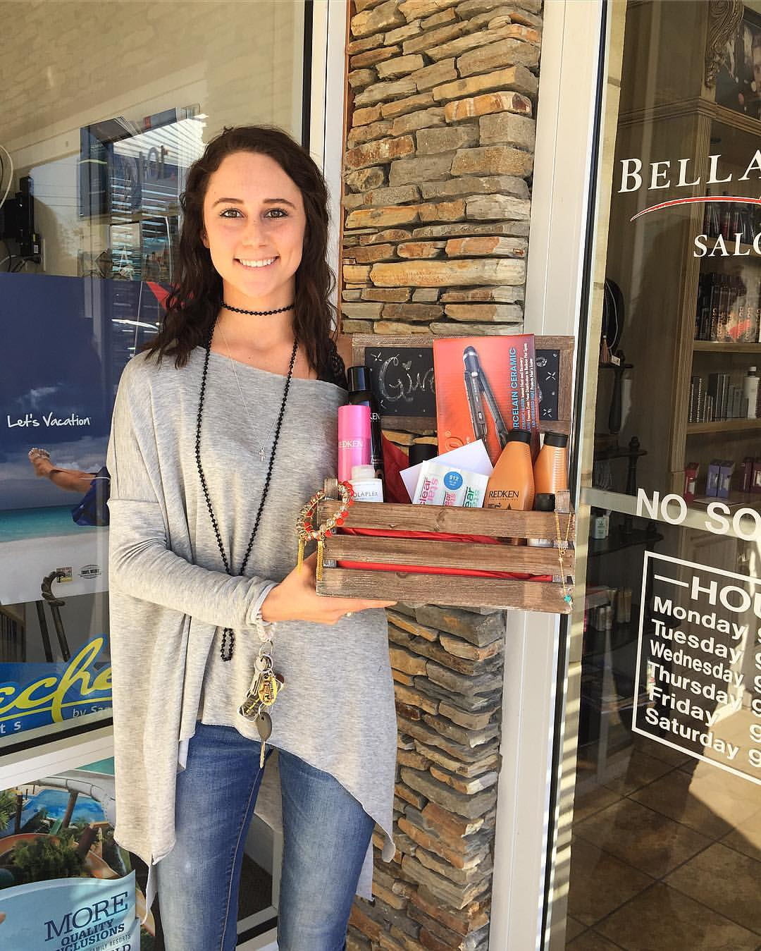 Congratulations to our winner,Miranda McNair, who already stopped by the salon to scoop up her amazing basket full of goodies! Stay tuned for more contests and giveaways in the future!