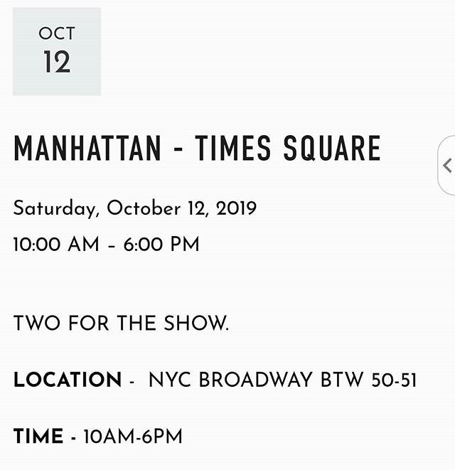 NYC catch us tomorrow! 💓💛💚💙💜 last day of the season ❄