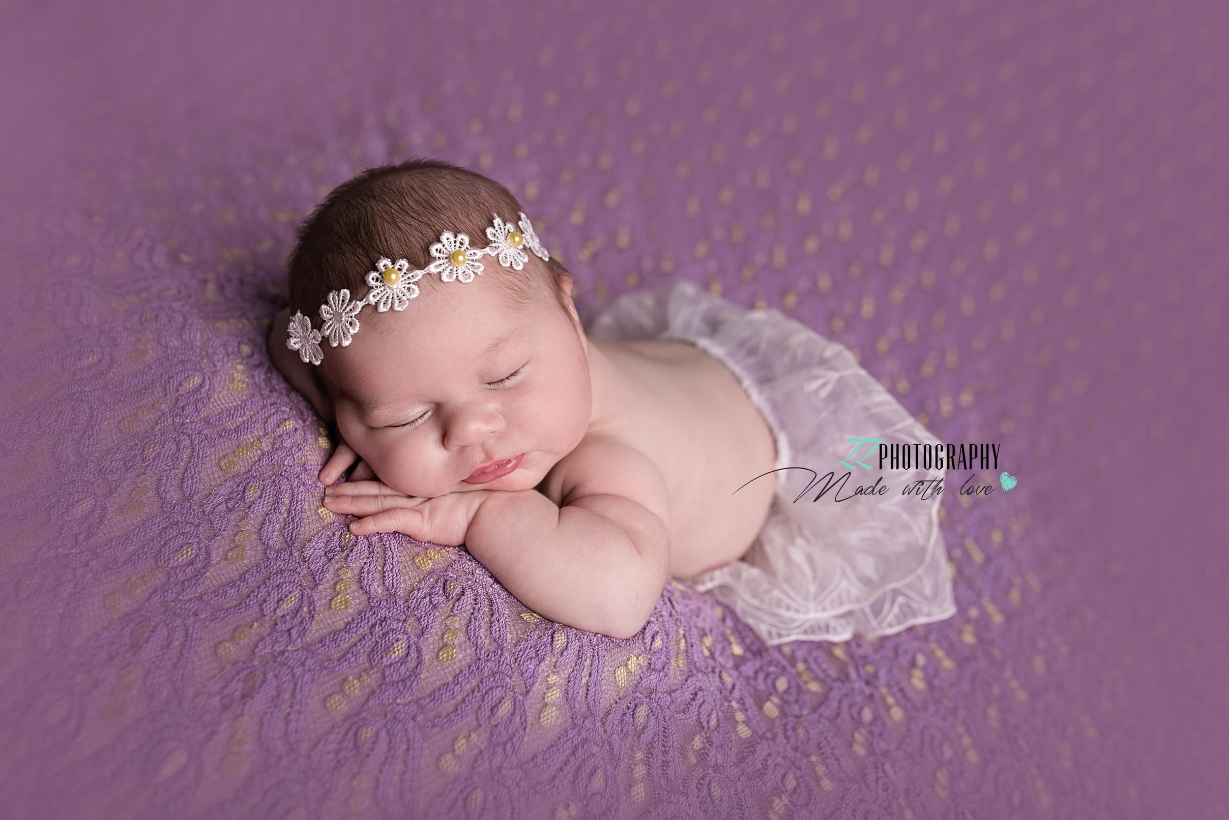 pretty newborn baby photograph