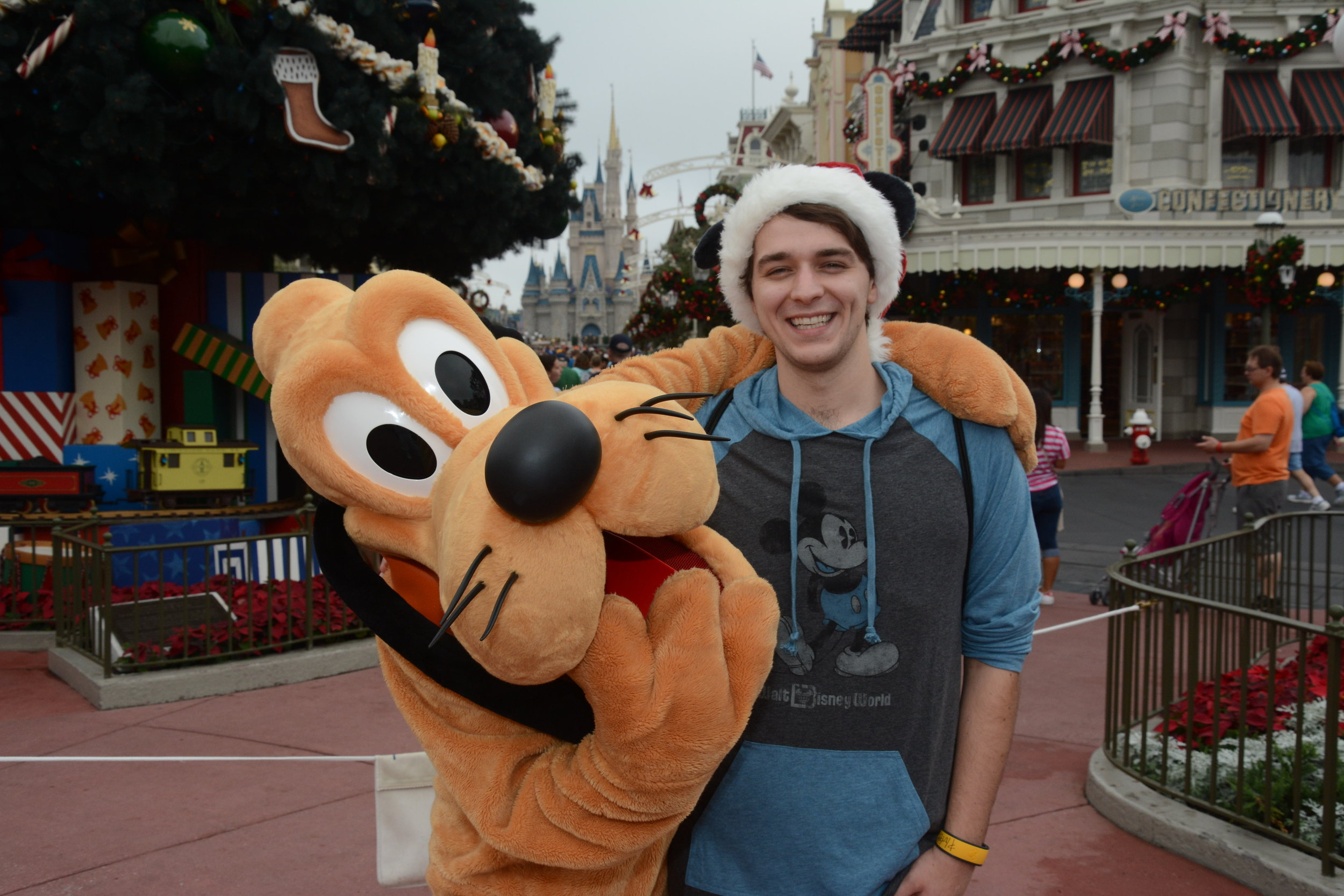 Just Chillin' With Pluto While Launching From Disney World!