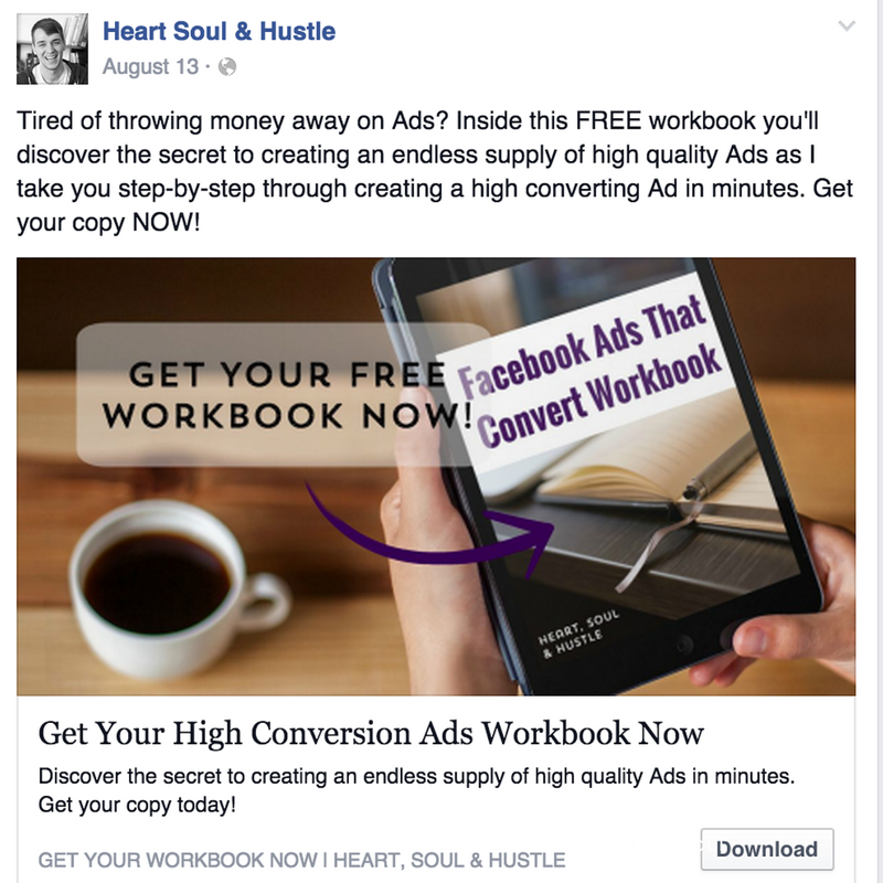 Here's a sample ad that I've run to generate more leads and sales.