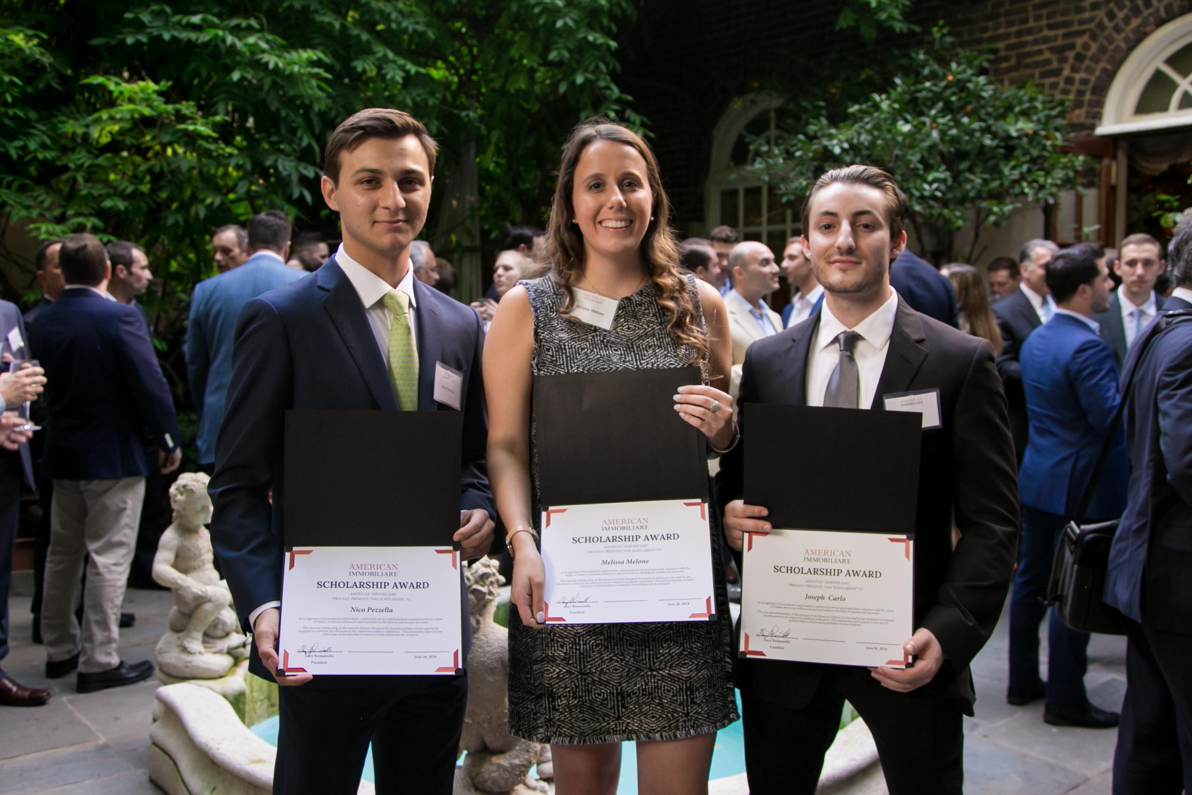 Congratulations to Nico Pezzella, Melissa Melone and Joseph Carlo!