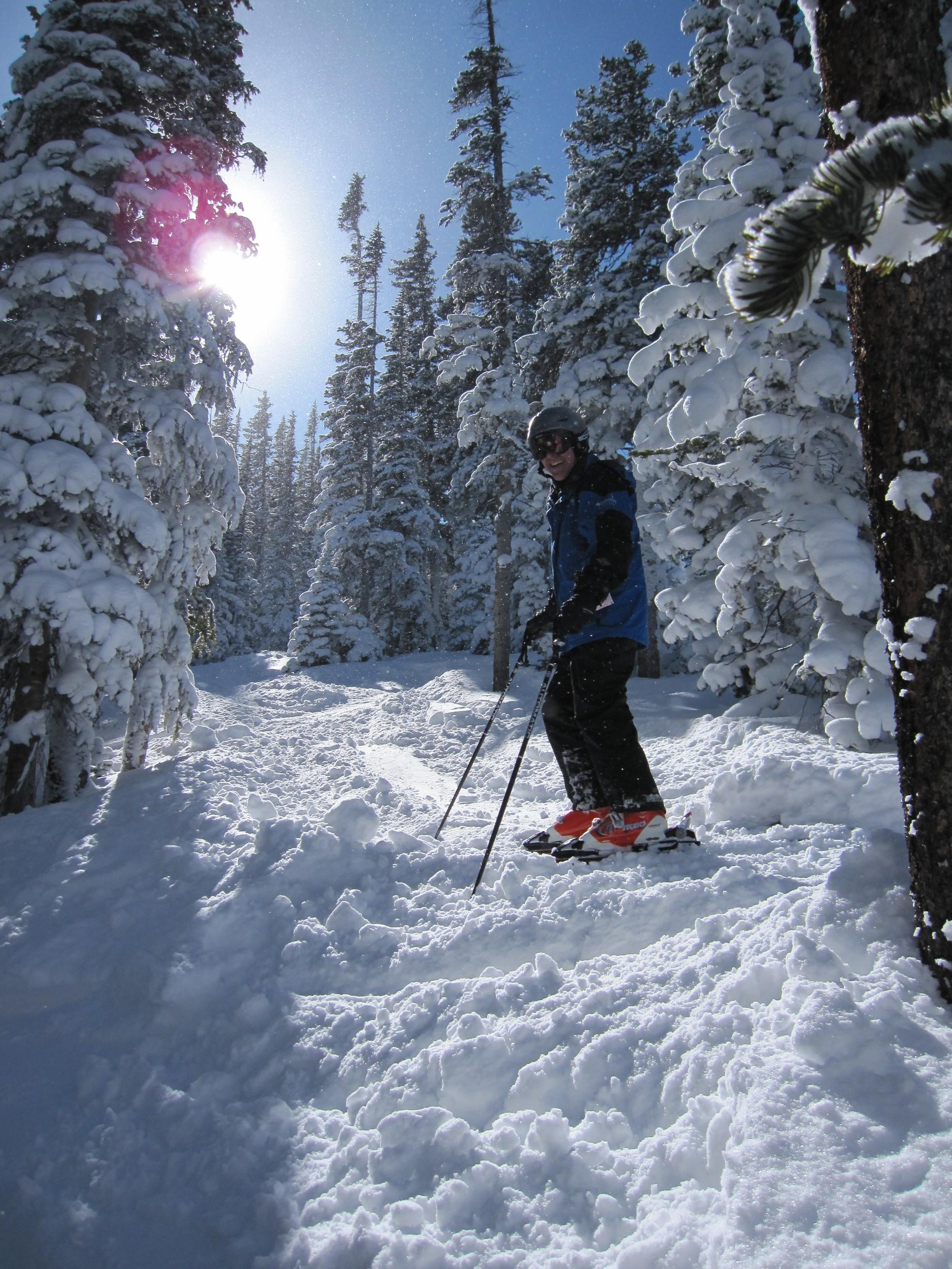 Skiing at Eldori Ski Resort - a short hour's drive from Estes!