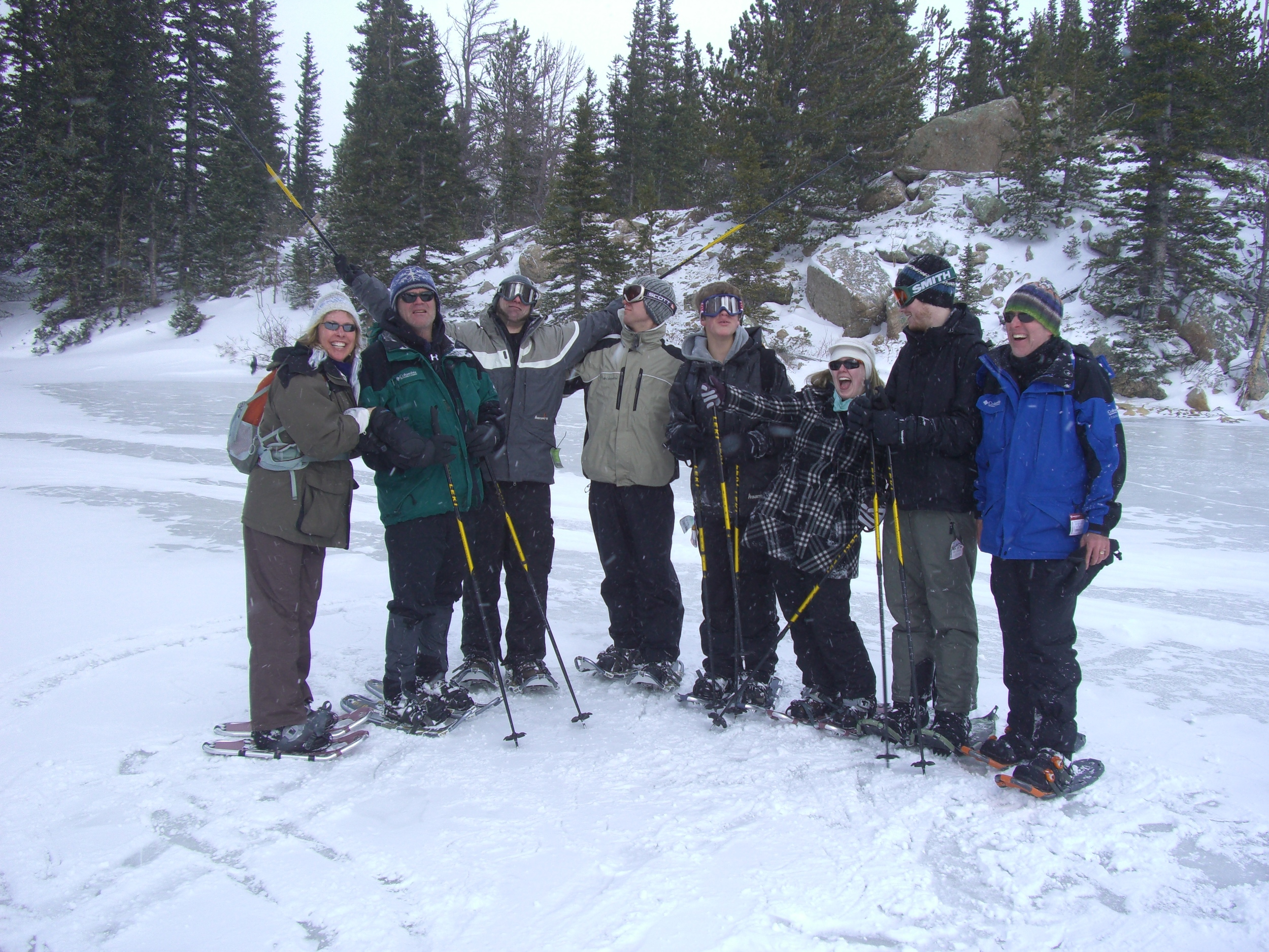 Take your family snowshoeing together! (we do!)