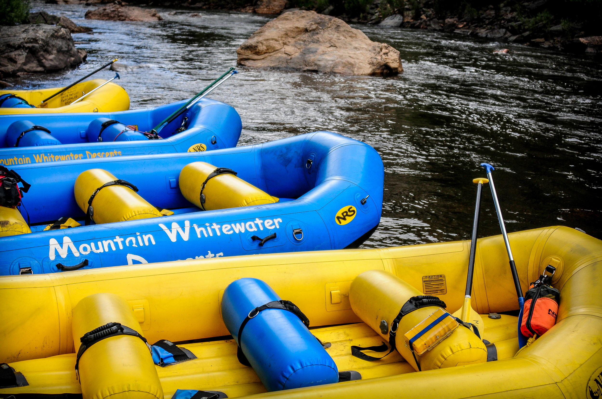 White water rafting on the Poudre is a blast! (photo courtesy of our friends at Mountain Whitewater Descents, Ft Collins CO)