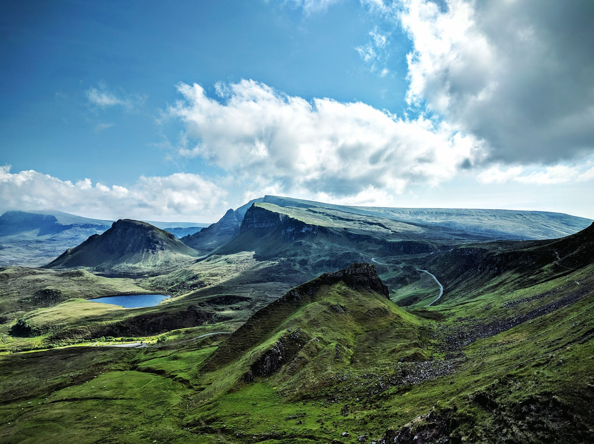 The dramatic Isle of Skye drenched in sunshine. Photo credit: Michael Weaver