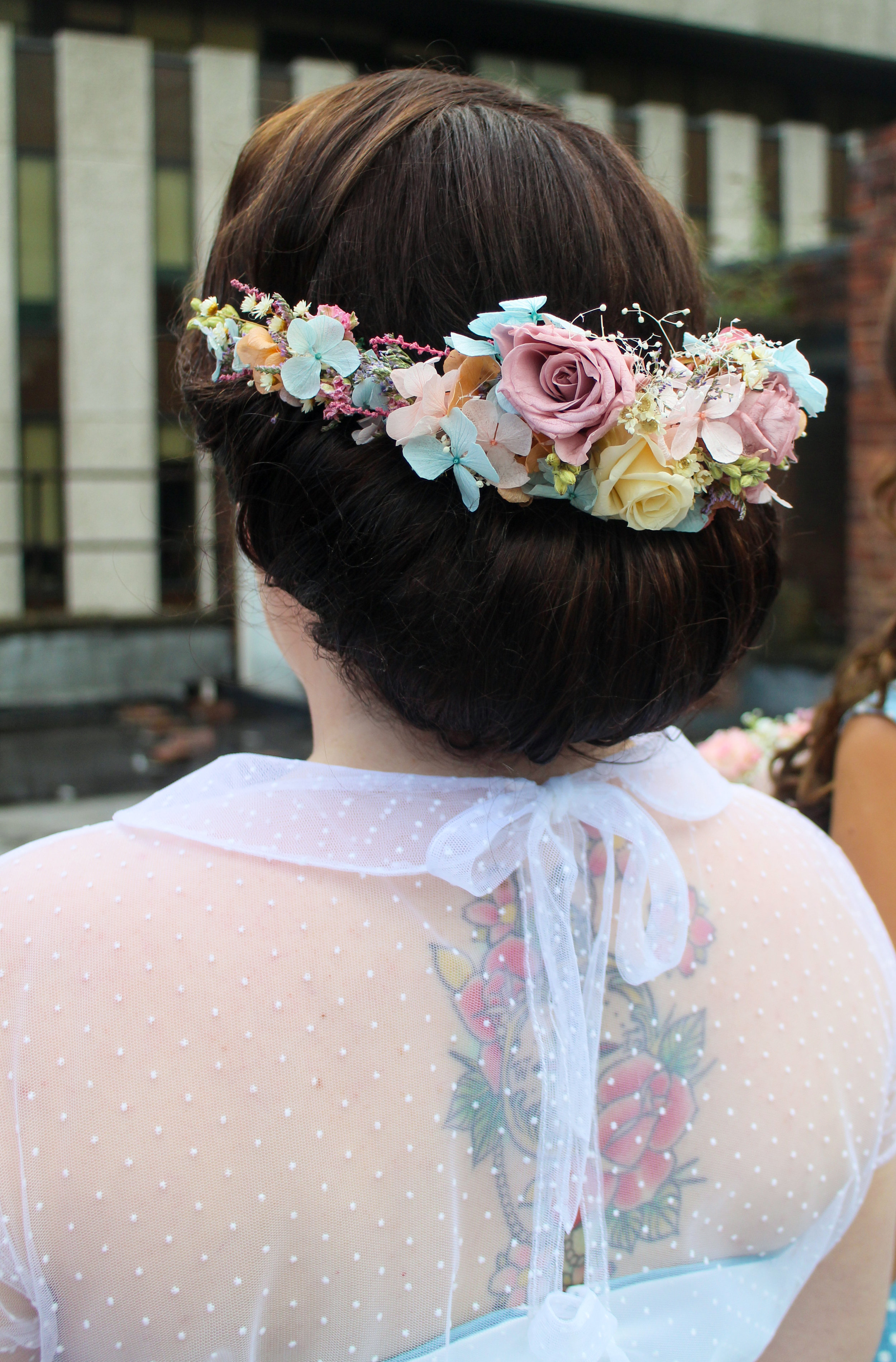 hair by me , flower crown by  www.folkydokey.co.uk