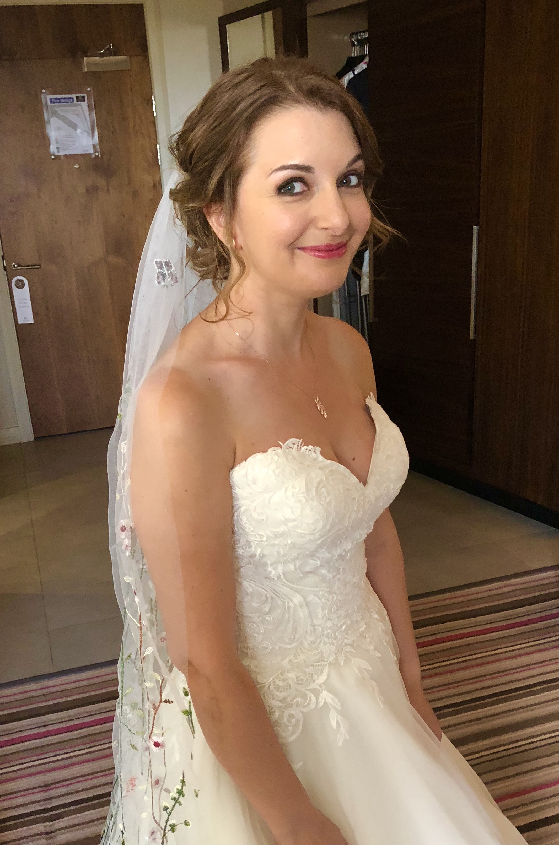 CANDICE - I couldn't recommend Nicola highly enough! She did an amazing job of both hair and makeup for myself, my mum and maid of honour. The makeup was perfectly tailored to suit each of us, expertly applied, lovely and natural but also stayed on all day! And our hair was simply lovely - Nicola listened carefully to what we'd all like and we even changed my hair on the day to something completely different from the trial!! She didn't bat an eyelid though!I was quite nervous on the morning as well but Nicola is so lovely and chatty that she completely distracted me. Thank you for a perfect job Nicola x
