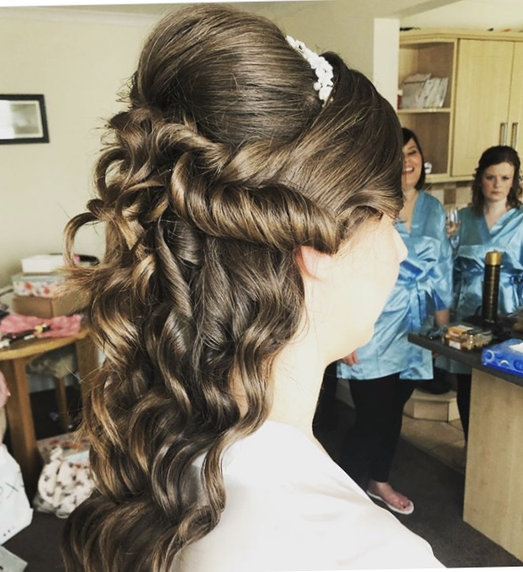 Sarah - Nicola did my hair and also my mum and Bridesmaids hair for my wedding day. Nicola was brilliant throughout and gave some helpful tips at the trial to prepare for the big day! On the day Nicola was so friendly and relaxed which also helped us to all feel relaxed. I loved my Hair, thank you so much Nicola