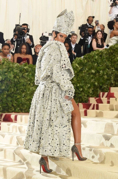 Rihanna in custom Maison Margiela by John Galliano