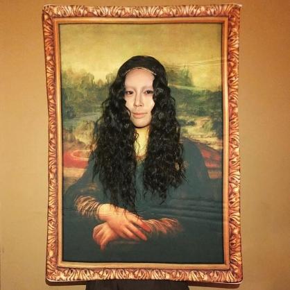 Aimee Song as the Mona Lisa
