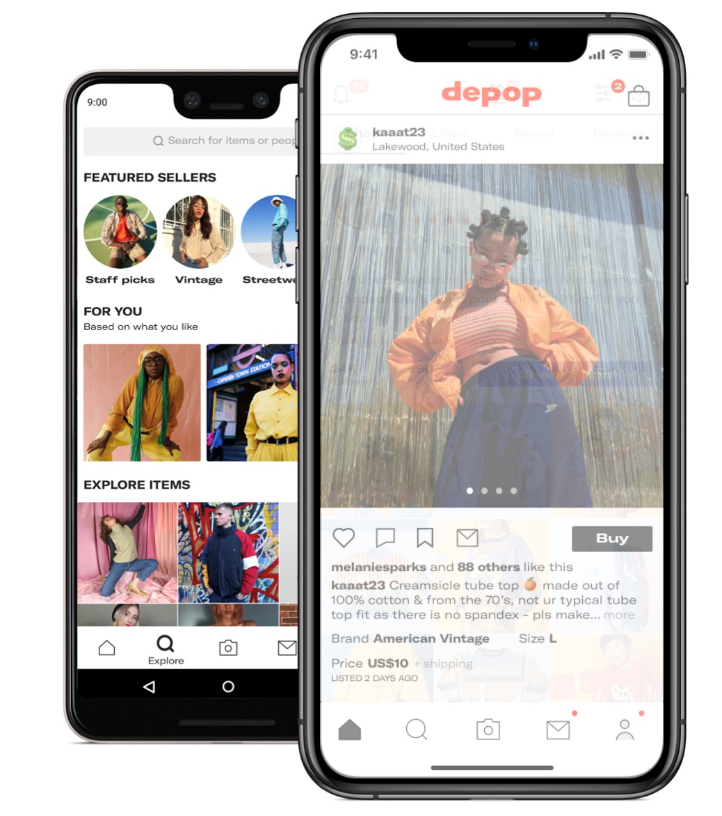 62f7b30b9bb0 Depop: Depop is mostly known in this kind of inner, lowkey, indie cool-kid  circle. Although it's officially an app and not a website, Depop has got it  all ...