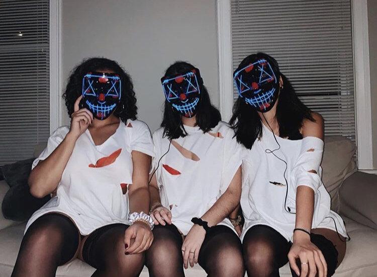 Muylin, Alexa, and Bruna get spooky as the Purge.    Photo courtesy of @muylin