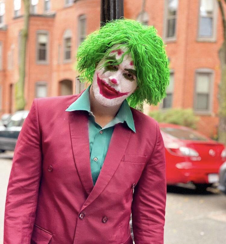 Kamal dresses up as Joaquin Pheonix's maniacal Joker.    Photo courtesy of @kamal_yadav196