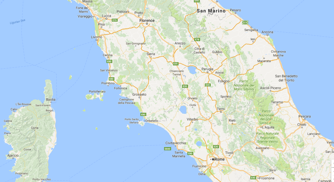 Italy (including Rome, Siena and Florence)