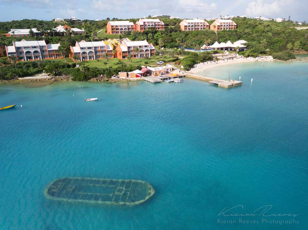 Looking out over Grotto Bay Beach Resort & our dive center directly off the dock.