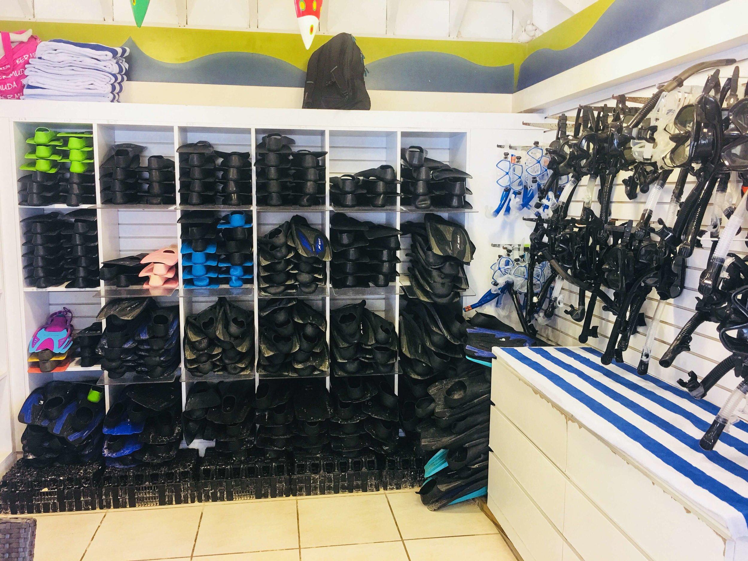 Top notch ScubaPro fins & masks for our divers.